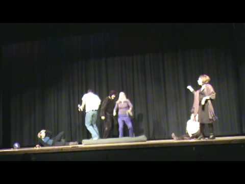 Nevin Platt Middle School Faculty Follies, 5 little monkeys skit