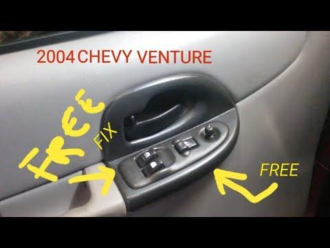 04 Chevy Venture Van Master Window Switch Repair FREE