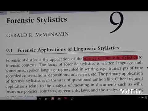 Forensic Linguistics 9 Youtube