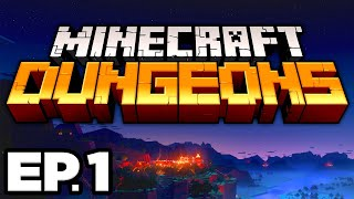 RESCUING VILLAGERS FROM THE ILLAGERS, ARCH-ILLAGER!! - Minecraft Dungeons Ep.1 (Gameplay Let's Play)