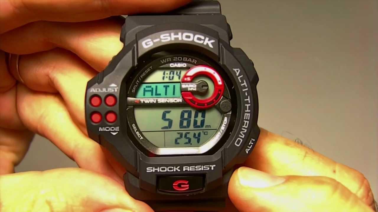 589bc2cbaf99 Reloj Casio G-Shock GDF-100-1AER sumergible altímetro baróme - YouTube