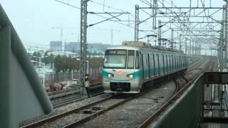 光州地下鉄1号線1000系 平洞駅到着 Gwangju Metro Line 1 Pyeongdong Station