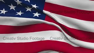 American Flag Patriotic Symbol Animation
