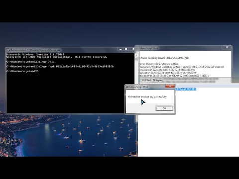 How To Deactivate Windows 7 License / Product Key