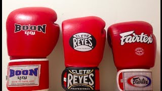 fairtex bgv1 vs hybrid cleto reyes vs boon 14oz