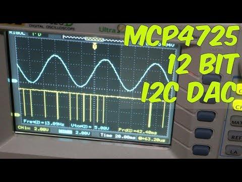 Using The MCP4725 12 Bit DAC With Arduino