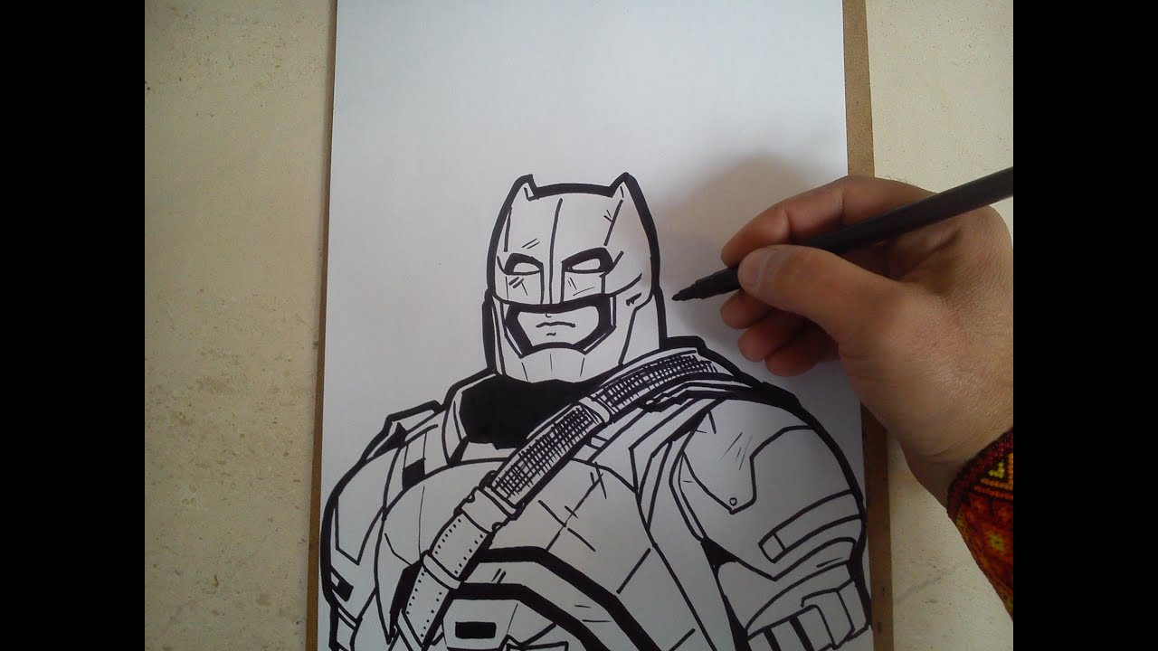 Como Dibujar A Batman Con Armadura De Batman Vs Superman
