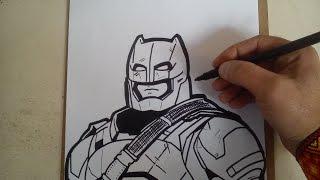 como dibujar a batman con armadura de batman vs superman / HOW TO DRAW A BATMAN ARMOR