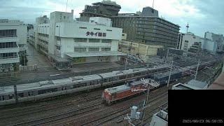 【LIVE】京都駅 JR京都線 鉄道ライブカメラ (ch2) 京都駅方面(東向き) Tokaido Main Line (JR Kyoto Line) 20210913 12:00~00:00