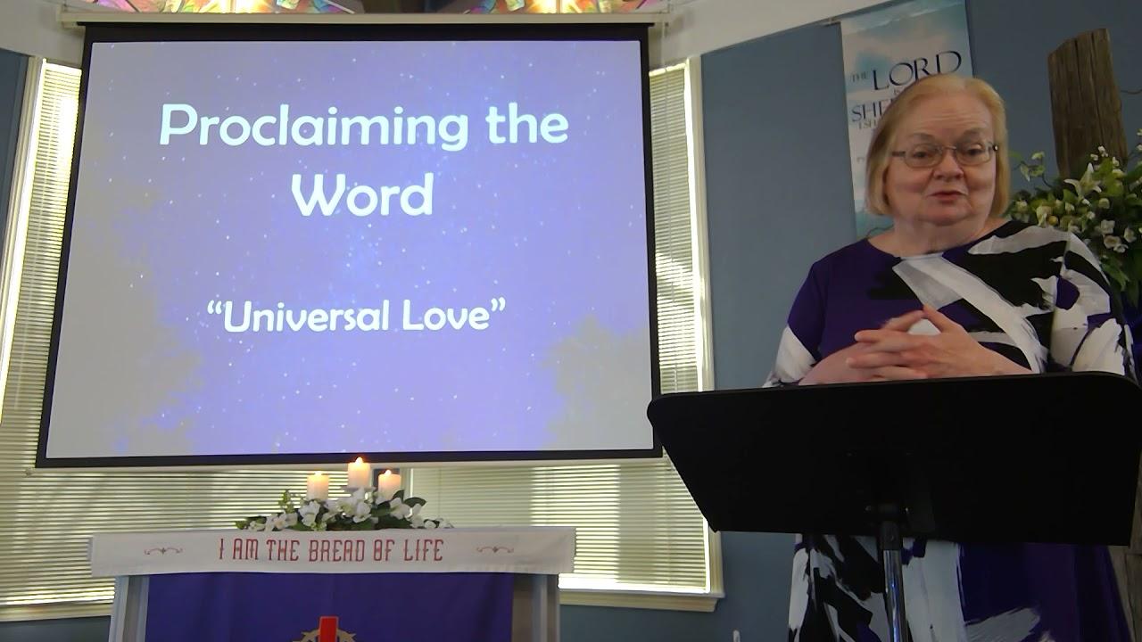 """March 21, 2021 ~ Rev. Julia Price ~ """"Universal Love"""""""