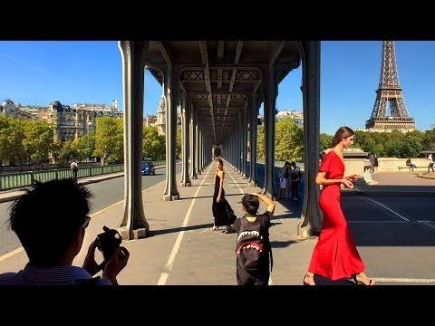 Paris's INCEPTION Bridge (Bir-Hakeim) Walk Tour