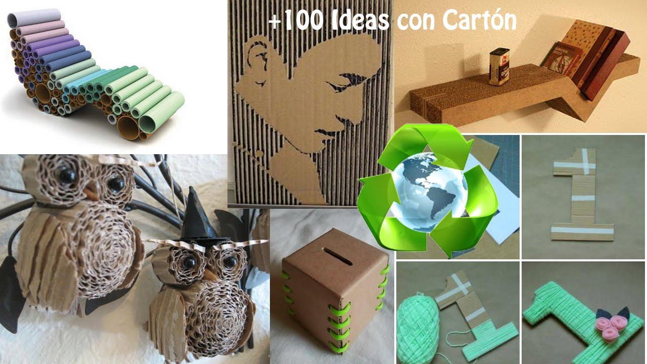 Reciclando Cartn Ideas Creativas  YouTube