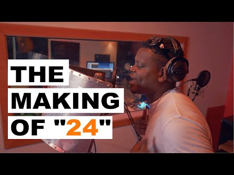 "The Making Of ""24"" I Studio session I Bruce Melodie, Element Eleeeh, Bob Pro"