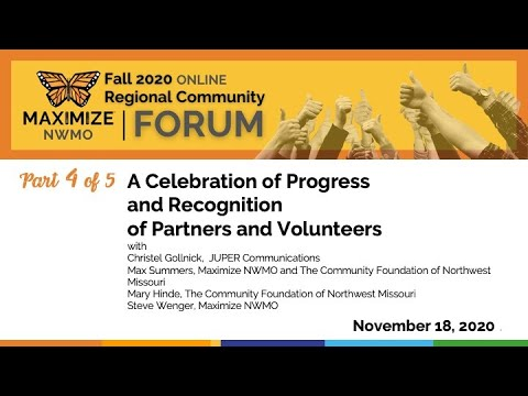 4 Progress Celebration and Recognition Maximize NWMO 2020 Fall Forum 11 18 2020
