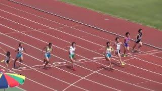 関東中学陸上2015 1年女子100m決勝