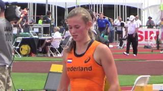 Nadine Visser Netherlands World Junior Eugene,Oregon Bronze medal 100 hurdles