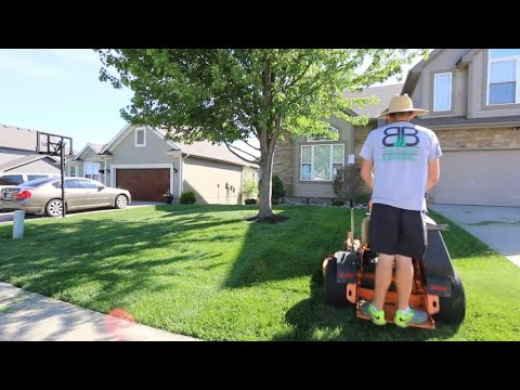 Mowing My Lawn From Start To Finish With NO Music!