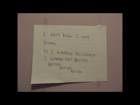 I Wanna Get Better - Bleachers (stop Motion Lyric Video)