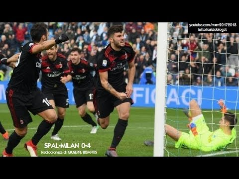 SPAL-MILAN 0-4 - Radiocronaca di Giuseppe Bisantis (10/2/2018) da Rai Radio 1