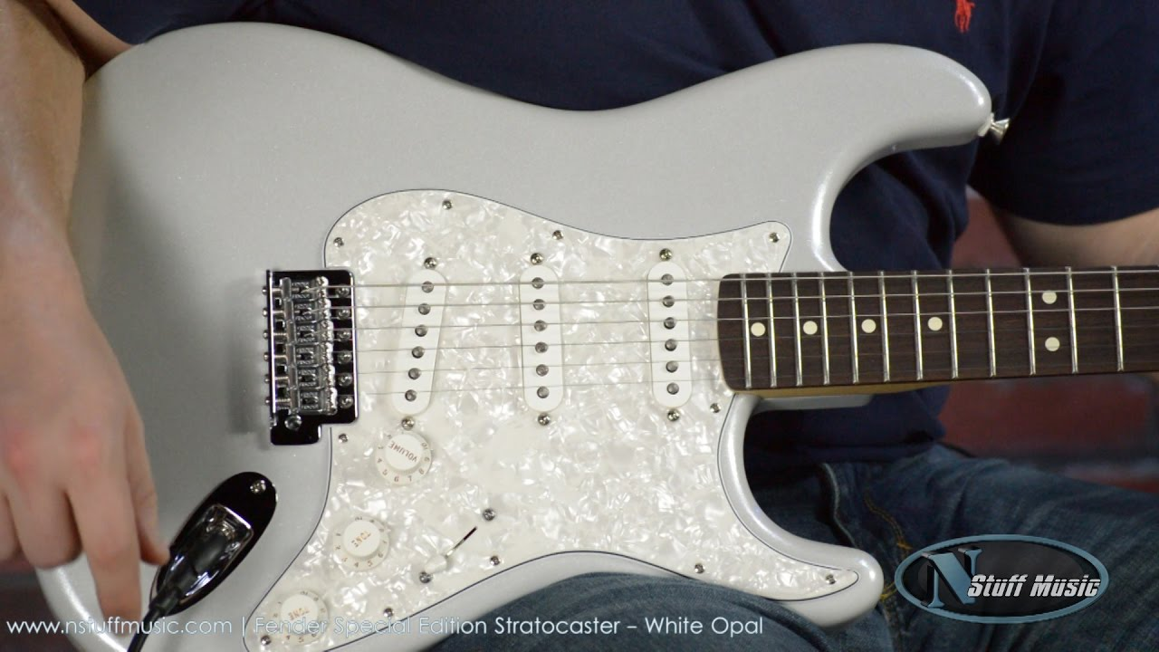 Fender Special Edition Stratocaster - White Opal - YouTube