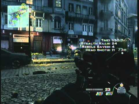 MW3 Spec Ops - Solo - Veteran - Resistance Movement In Under 3 Minutes + All 7 Hostages (Mission 10)