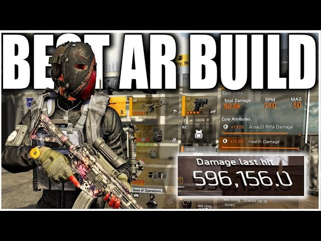 The Division 2 Best Dps Ar Pve Build 600k A Shot Solo Heroics With This Build 18 Million Dps Youtube