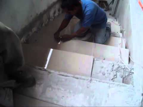 01 piso porcelanato en escalones 03 youtube for Pisos en porcelanato