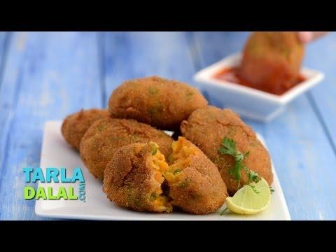वेजिटेबल कटलेट (Vegetable Cutlets) by Tarla Dalal