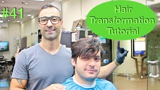 NEW Haircut & Hairstyle Transformation (Hair Tutorial) Best Barber in the world 2018 U.S.A / Dubai