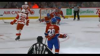 Jeff Petry Powerplay Goal vs Detroit 2-1 (10/17/15)