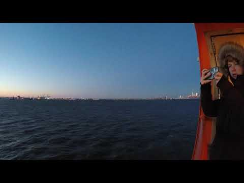 ⁴ᴷ Staten Island Ferry Full Ride from St. George, Staten Island to Whitehall Terminal, Manhattan