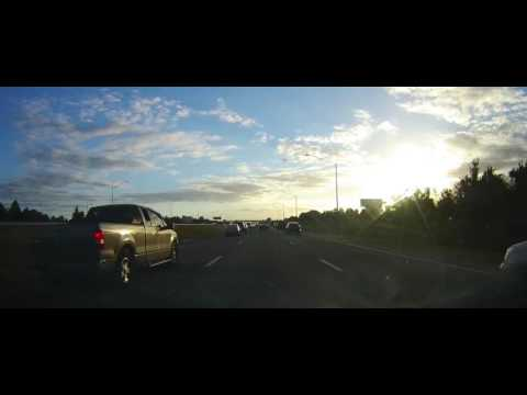 Driving on Interstate 4 from Orlando to Tampa, Florida