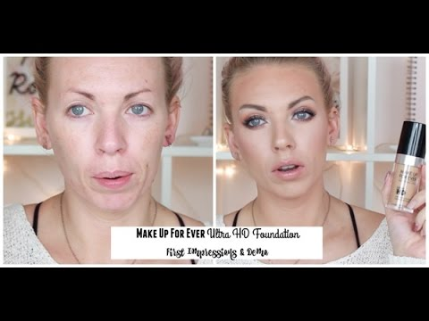 Make Up For Ever Ultra HD Foundation | First Impressions & Demo