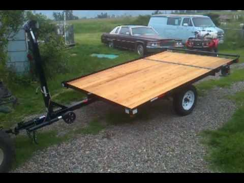 tilt strait tounge raft trailer for sale in montana 80inch by 10 foot with winch and roller