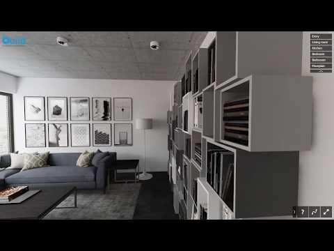 Interactive ArchViz Walkthrough in a Browser (Modern Apartment by Build Architektur-Visualisierung)