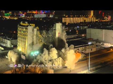 The Clarion Hotel Demolition and Failed Implosion - Las Vegas - Captured by Drone in 4k!