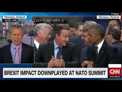 President Obama PM David Cameron NATO Summit Warsaw Poland Warszawa