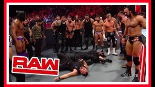 THE SHIELD ARE DESTROYED BY RAW LOCKER ROOM!!! WWE RAW 9/3/18