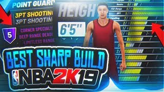 BEST PURE SHARP BUILD IN NBA 2K19 • IF YOUR MAKING A SHARP WATCH THIS BEFORE MAKING ONE!!!