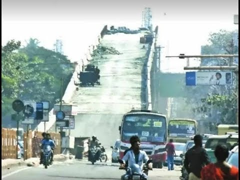 Check out the spoof on the Rs 74 Crore 100 feet road flyover that appears dangerously steep