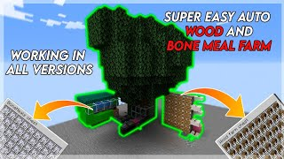 Minecraft: How to make AFK wood / tree farm | wood farm | working in all version