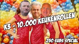 Download Video K3 - 10.000 keukenrollen [250 subs special] (K3 - 10.000 luchtballonnen parodie) MP3 3GP MP4