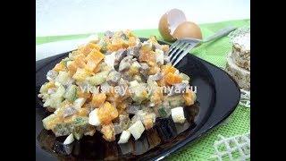 Салат с сердцем и яйцом - быстрый, вкусный и полезный салатик!