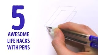 5 AWESOME life hacks with pens l 5-MINUTE CRAFTS