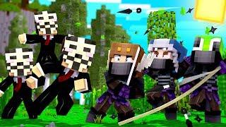 Minecraft Daycare - BABY NINJAS vs HACKERS BATTLE ROYALE! w/ MooseCraft (Minecraft Kids Roleplay)