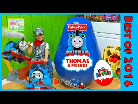 Giant Thomas and Friends Surprise Egg Opening Kinder Eggs Surprises for Kids Compilation Video