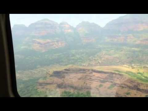 Sahyadri Ranges from helicopter