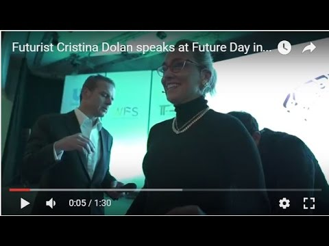 Futurist Cristina Dolan speaks at Future Day in Turkey on Blockchain Bitcoin and the Future of Trust