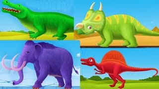 Children Learn About Dinosaurs - Dinosaur Park Compilation Kids Games - Educational Children Games
