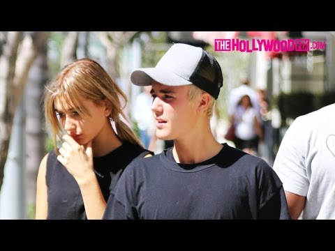 Justin Bieber & Hailey Baldwin Go For An Afternoon Stroll In Beverly Hills 10.7.15